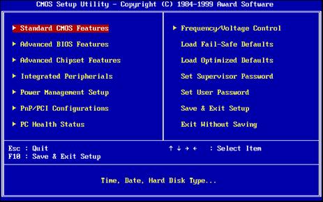 BIOS settings