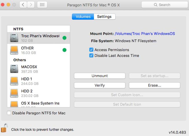 掛在NTFS磁碟