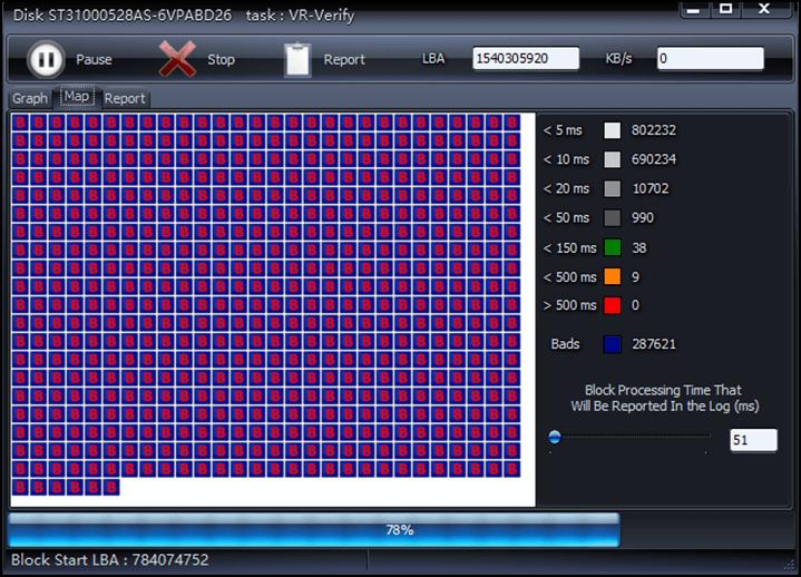 HDD SCAN檢測到壞軌