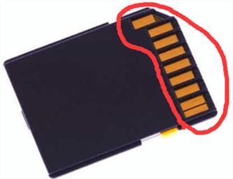 sd記憶卡接觸點