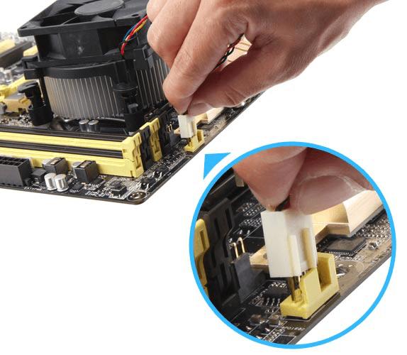 检查CPU风扇与主板的连接
