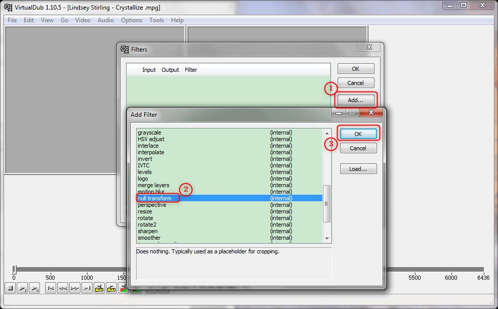 添加null transform濾鏡