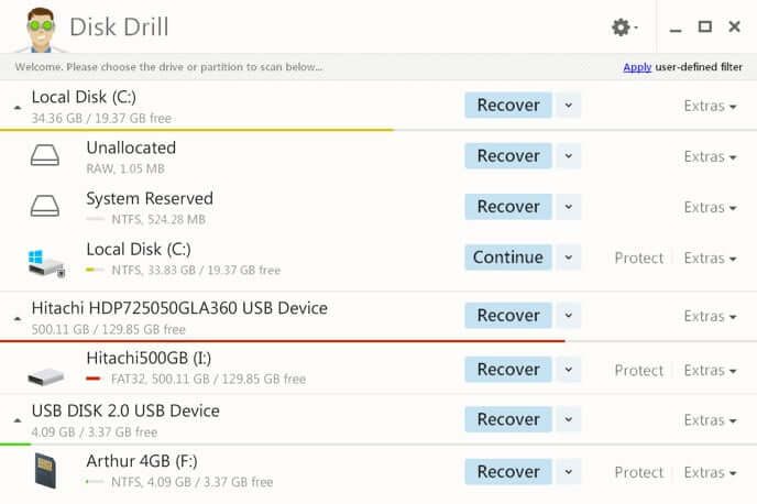 Disk drill檔案救援軟體