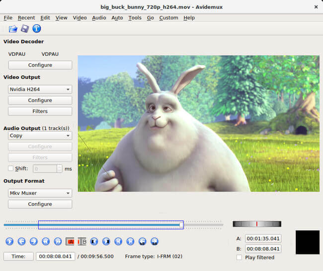 avidemux免費影片編輯軟體