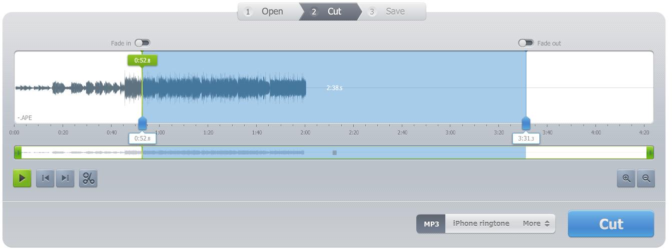 Audio Cutter Pro音訊剪輯網站