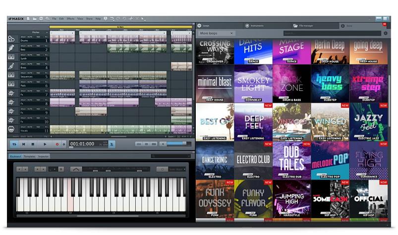 音樂剪輯軟體MAGIX