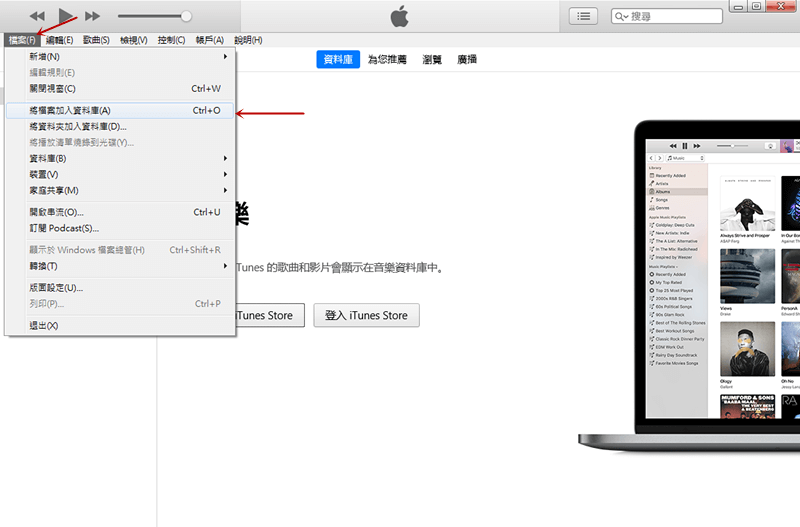 iTunes添加檔案資訊頁面