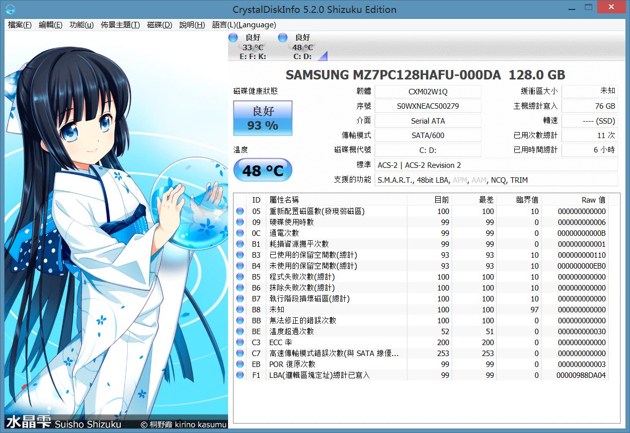 CrystalDiskInfo軟體