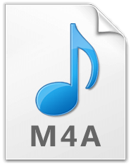 m4a音訊檔案格式的圖示