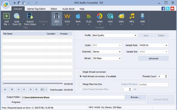 AVS Audio Converter轉檔