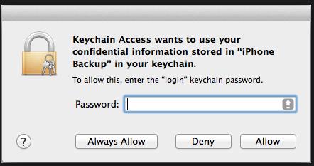 iTunes備份密碼