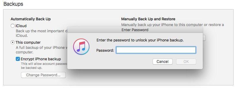 iphone備份密碼忘記