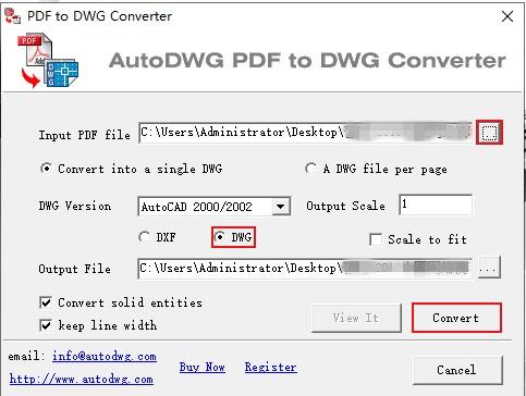 pdf轉dwg