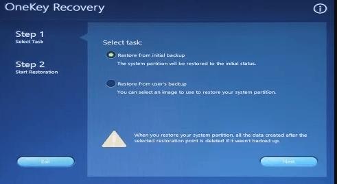 OneKey Recovey模式