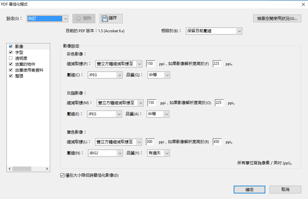 PDF最佳化程式