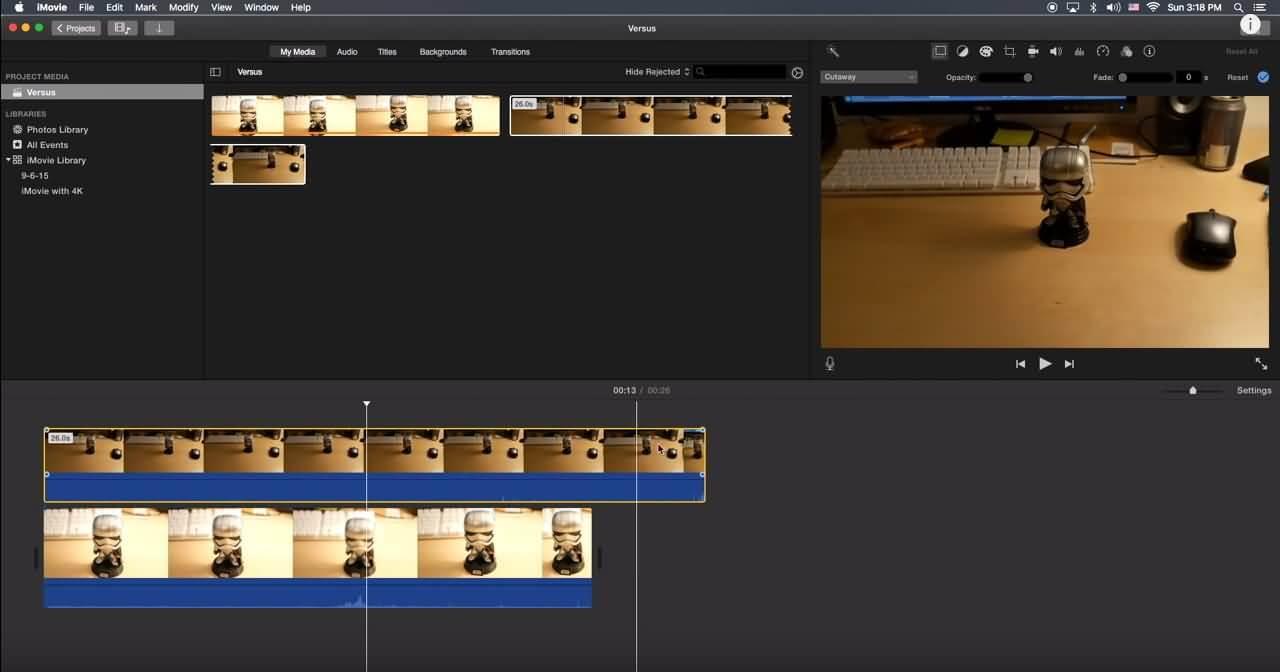 iMovie分割